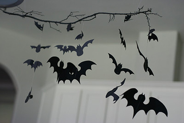 bat mobile halloween decor