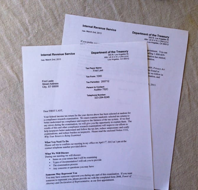 April Fools Prank Fake IRS Audit Letter