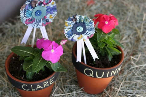 Farm-tastic First Birthday: Flower Pot Favors