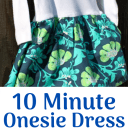 10 Minute Onesie Dress Tutorial