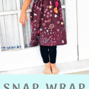 Snap Wrap Dress Free Sewing Pattern and Tutorial