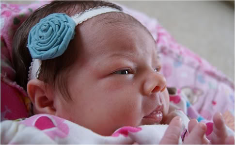 No-sew Rolled Fabric Flower Headband | Pretty Prudent