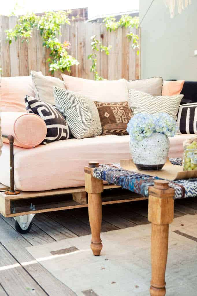 Design Bank Wit Leer.How To Build A Pallet Daybed Pretty Prudent