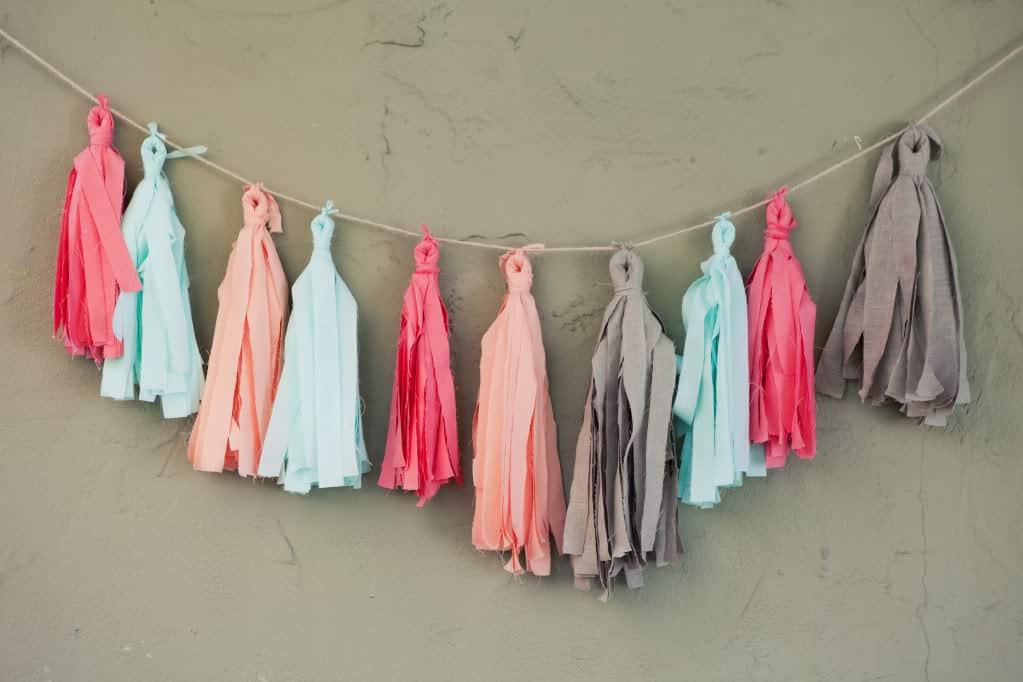 No-Sew Fabric Tassel Garland Tutorial