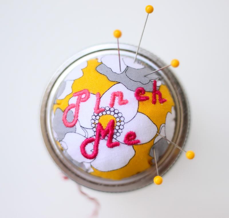 Mason Jar Pin Cushion
