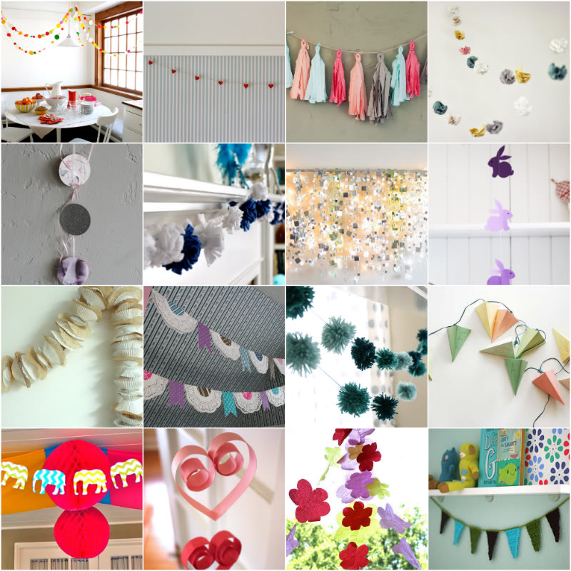 diy garland bunting 25 free diy projects to make the sweetest prettiest and simplest garlands. Black Bedroom Furniture Sets. Home Design Ideas