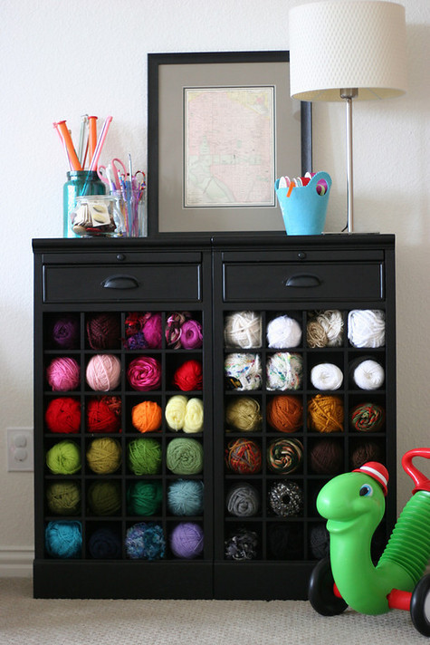 Wine Rack As Yarn Storage Pretty Prudent