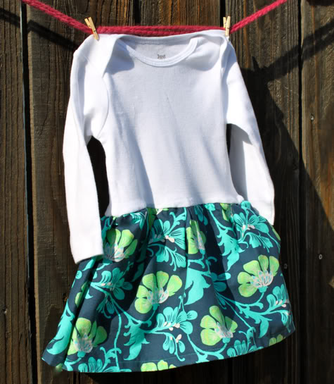 10 Minute Onesie Dress – Easiest Dress Ever | Pretty Prudent