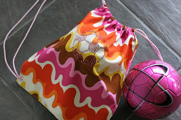 Drawstring Soccer Backpack Made From A Placemat Pretty Prudent