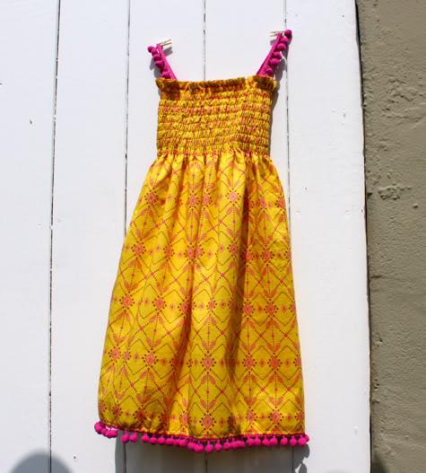 Smocked Sundress With Pom Poms Pattern Pretty Prudent
