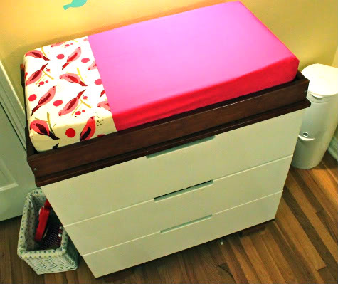 DIY Changing Pad Cover Tutorial