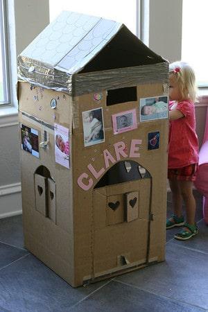 Diy Cardboard Playhouse Pretty Prudent