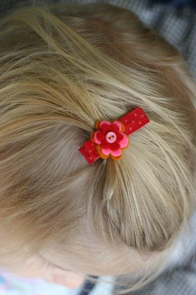diy sweet easy baby hair clip pretty prudent