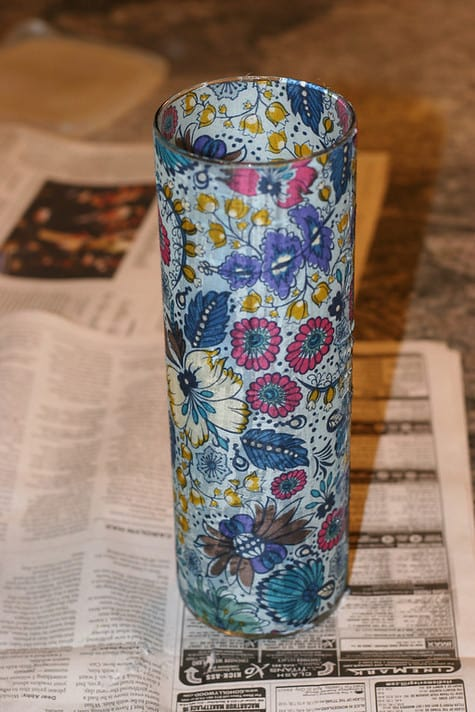 Mod Podge Vase Pretty Prudent