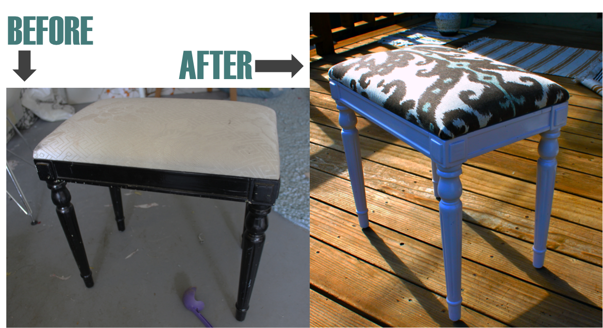 A footstool is a great beginner upholstery project I walk you through the steps after the jumpu2026 & Before u0026 After Ikat Footstool DIY | Pretty Prudent islam-shia.org