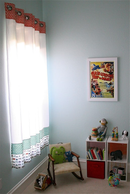 Curtains Ideas curtains made from bed sheets : Striped Grommet Curtains made from Designer Fabric and Sheets ...