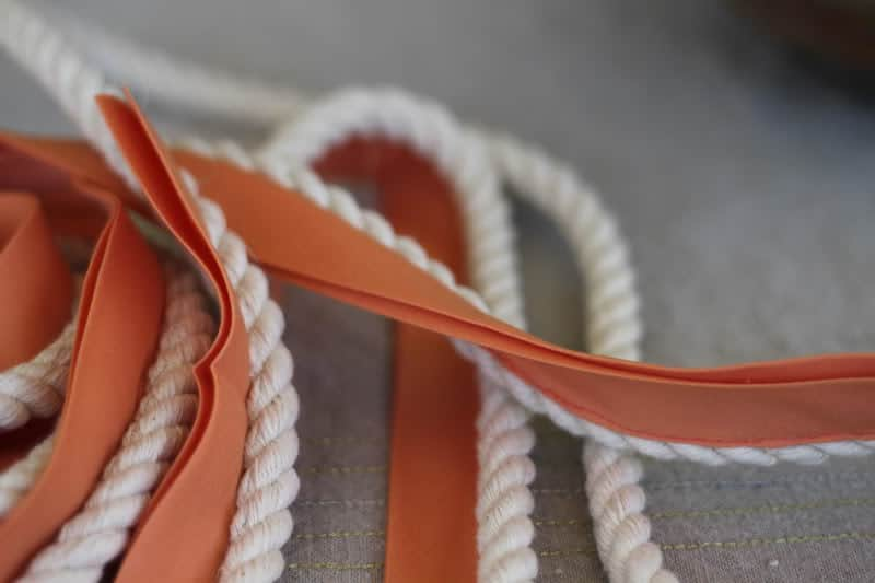 how to sew rope trim amp my embroidered seat cushions
