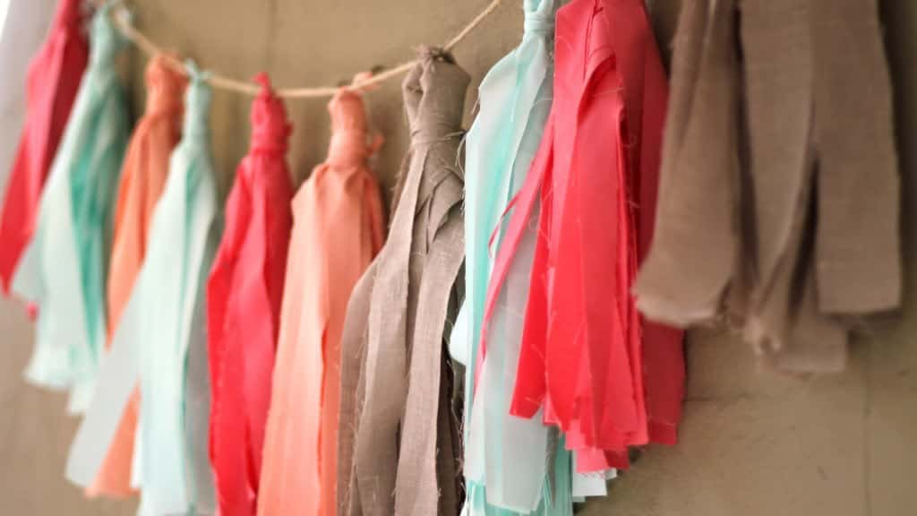 How To Make A Fabric Tassel Garland No Sew Pretty Prudent