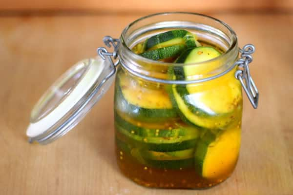 make sweet zucchini pickles you can make zucchini pickles of