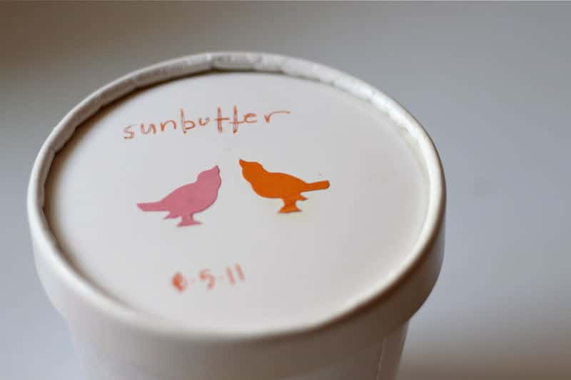 Homemade Sunbutter Container