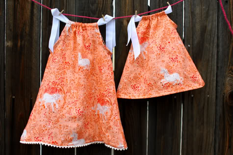 Diy Easy Sew Girls Dresses For Fall Pillowcase dresses are