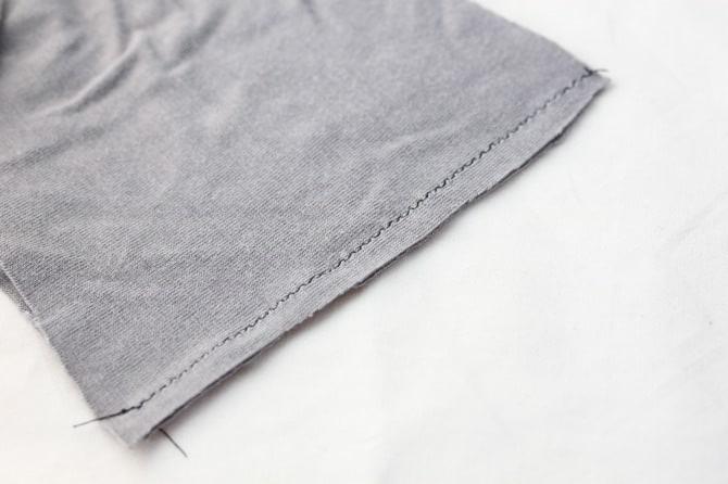 Image of a flat jersey seam