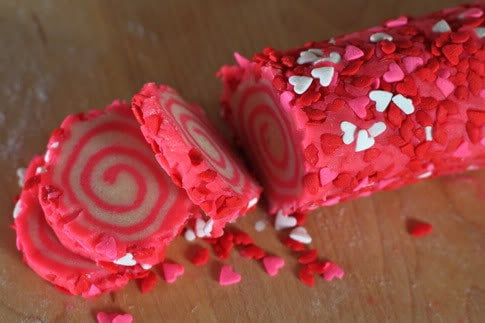 Sweet Swirl Cookies of Love for Valentines Day