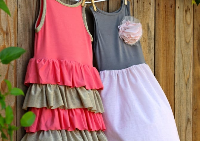 Image of dresses sewn with jersey knit fabrics