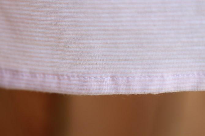 Hew sewn on jersey knit fabrics
