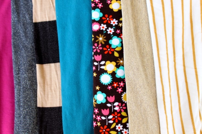 Image of knit jersey fabrics