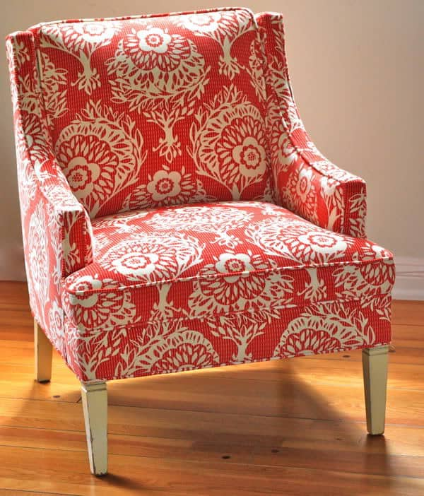the craft room redesign project: the recovered chair! | pretty prudent