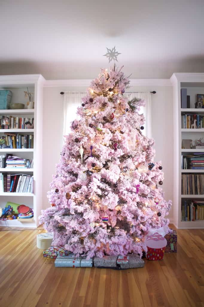 when i shared a picture of our tree on our facebook group hundreds of people commented with their support of the pinkness my husbands favorite comment - Pink Christmas Trees