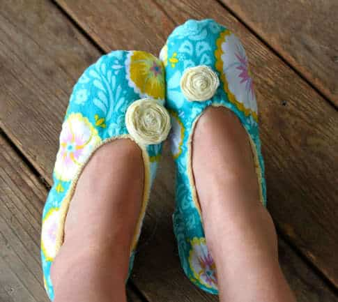 How to Sew Fabric Slippers