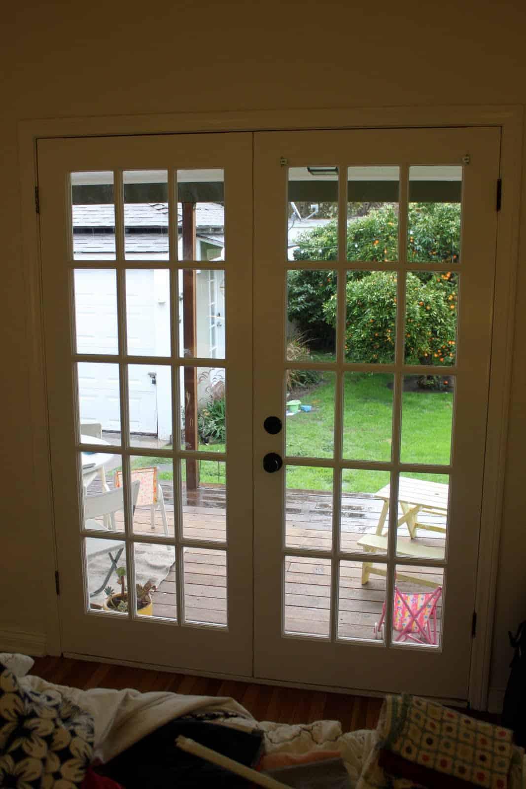 Patio door curtains diy - Diy French Door Curtain Panel Tutorial