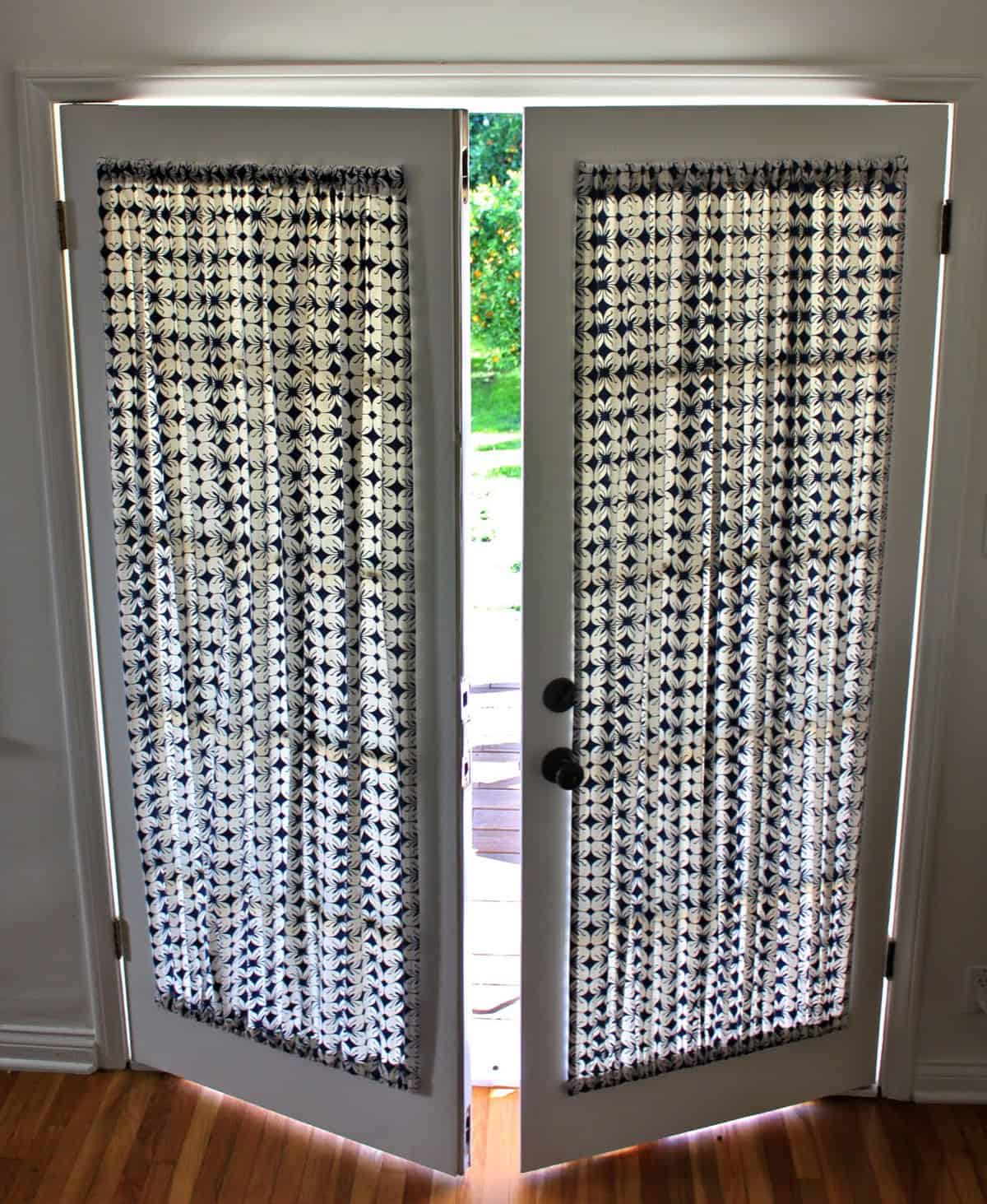 french door curtain panels DIY French Door Curtain Panel Tutorial | Pretty Prudent french door curtain panels