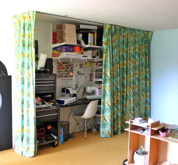 The Craft Room Redesign Project Hidden Workstation