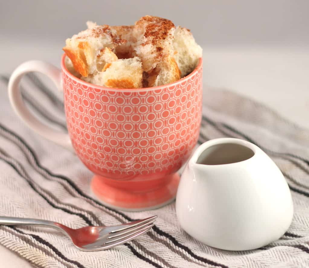 2-Minute French Toast in a Cup microwave single-serving dessert recipe