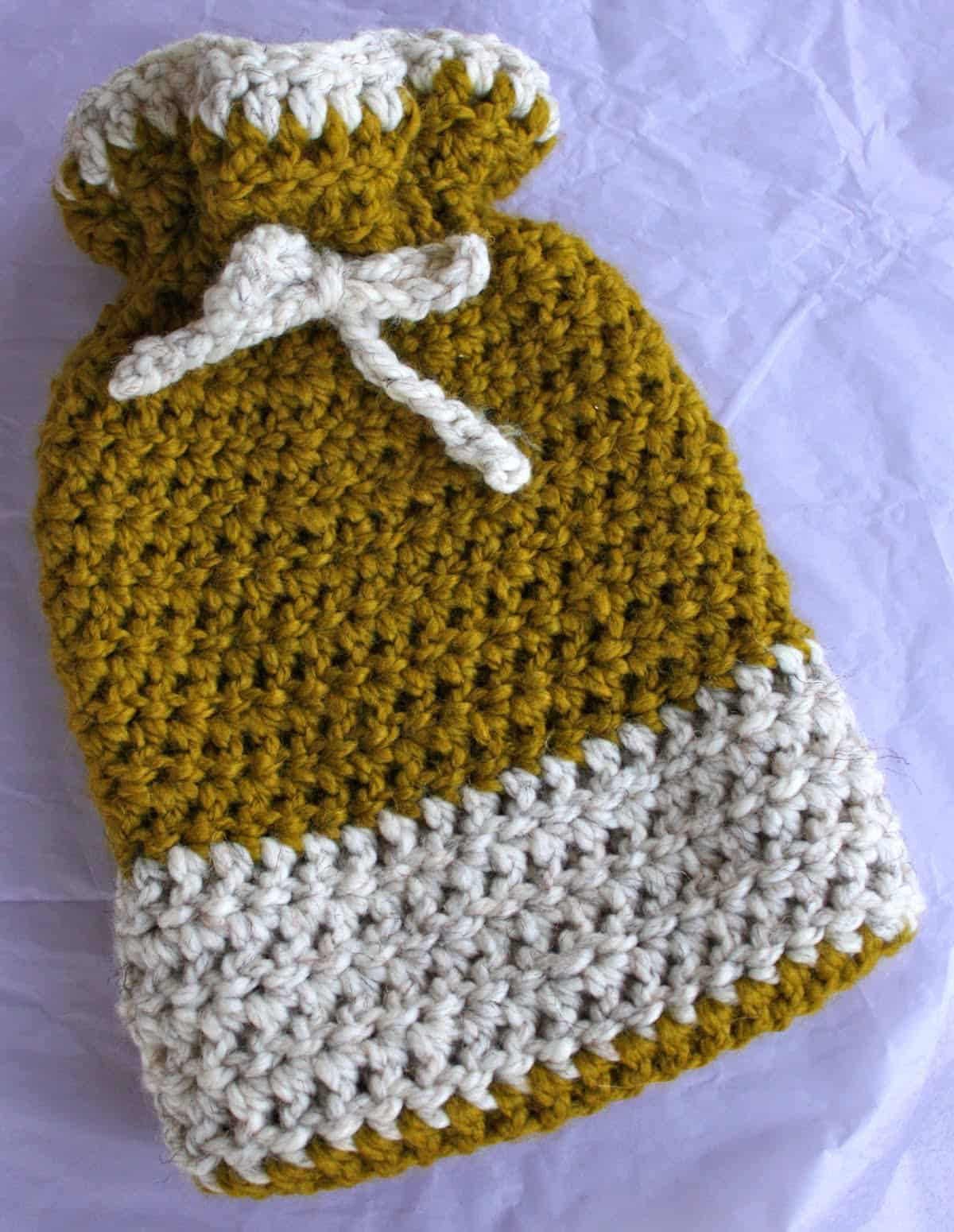 Crochet Hot Water Bottle Cozy | Pretty Prudent