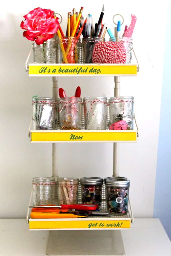 A Fun Way To Organize Craft Supplies