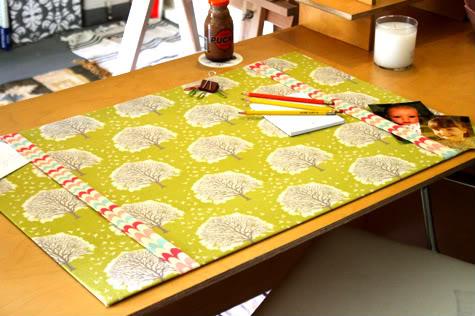 DIY Fabric Desk Pad Desk Blotter Pretty Prudent