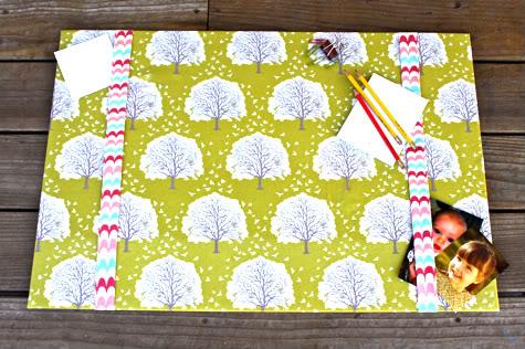 diy fabric desk pad desk blotter - Desk Blotter