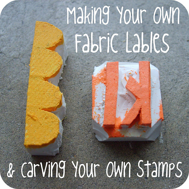 Making Your Own Halloween Decorations: Making Your Own Fabric Labels (& Carving Your Own Stamps