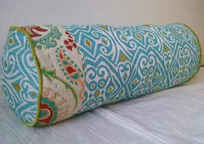 Beautiful bolster pillow tutorial pretty prudent Sew bolster pillow cover
