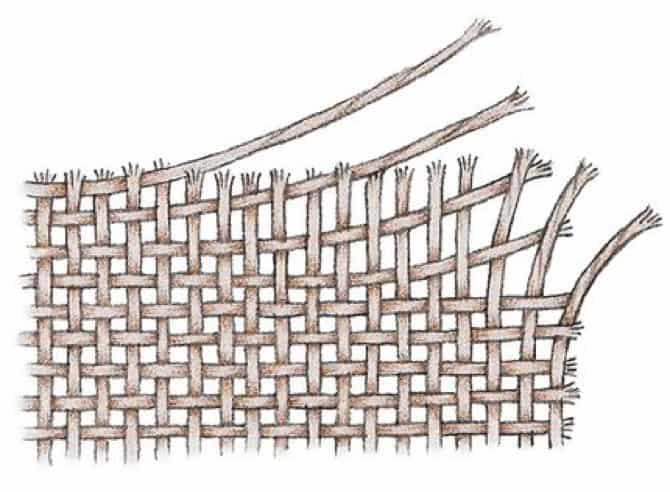 Illustration of Woven Fabric