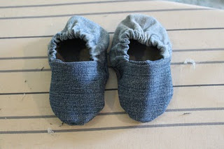 DIY Baby Shoes (recycled from old jeans