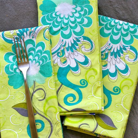 How to Sew Mitered-Corner Cloth Napkins
