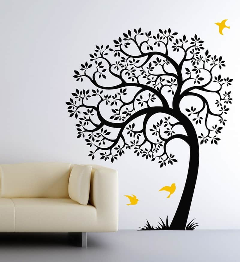 Unique Giveaway Winner Colorful Leaves Tree Decal by Cherry Walls