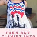 t-shirt dress sewing tutorial