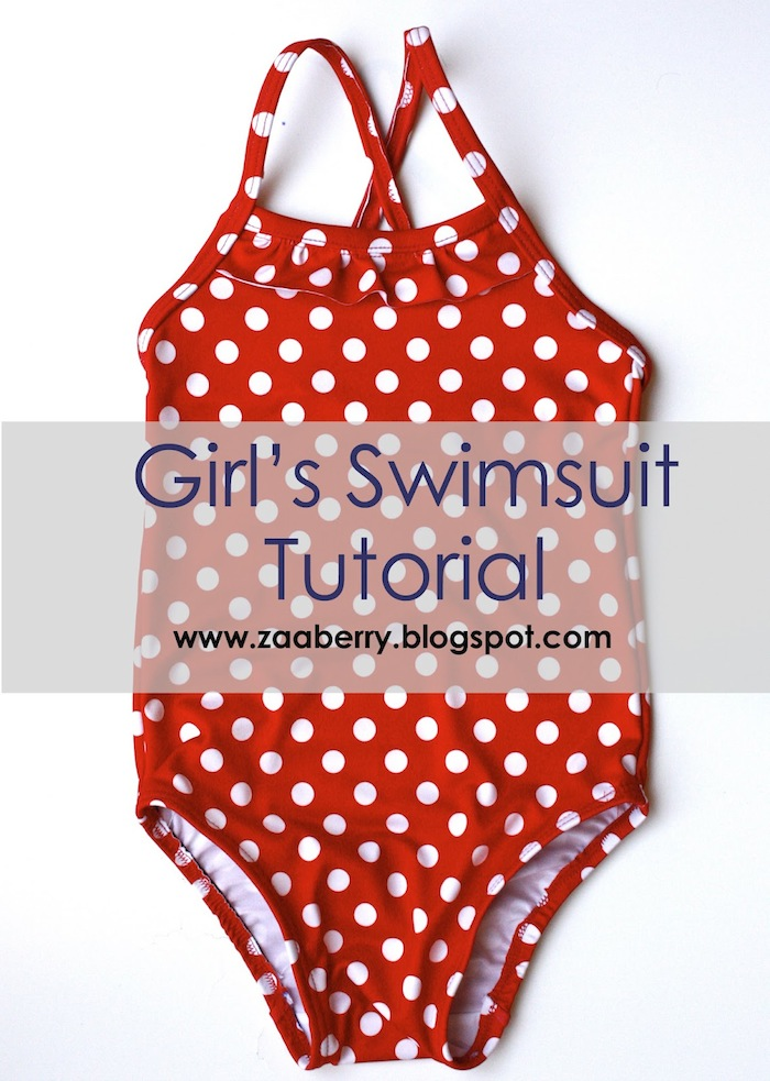 How to Sew A Girl\'s One-Piece Swimsuit (Free Pattern!) | Pretty Prudent