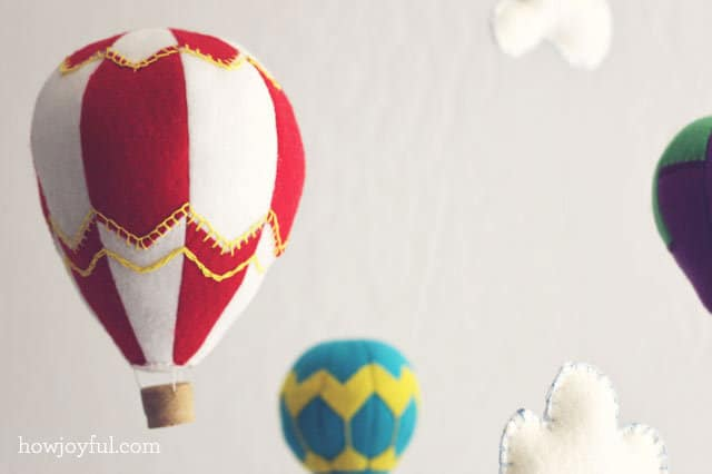 Hot Air Balloon vintage style hand embroidery on by t
